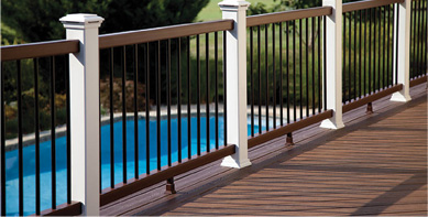 Trex decking railing classic white posts