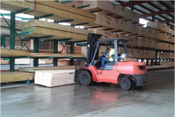 MRD Lumber Warehouse Drive thru storage Forklift
